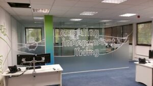 Colne Housing Colchester - Office Relocation Services & Glass Manifestation on Glass Partitions