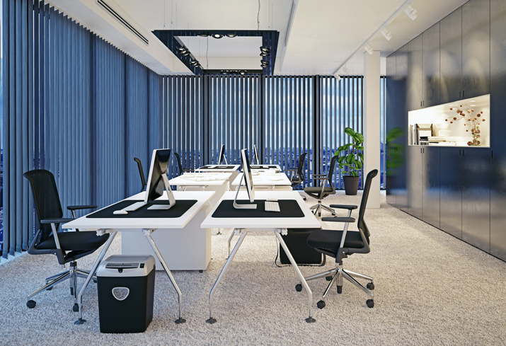 Commercial Fit Out with vertical blinds
