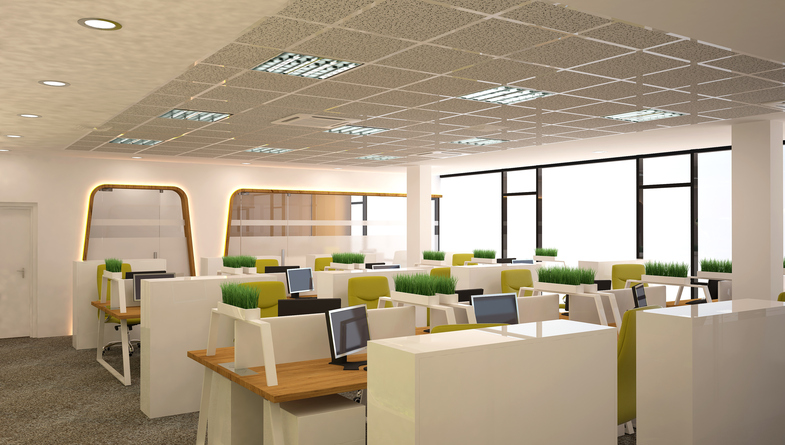 GDL Interiors are experts at Installing Suspended Ceiling tiles to commercial businesses & Fitted Office Furniture