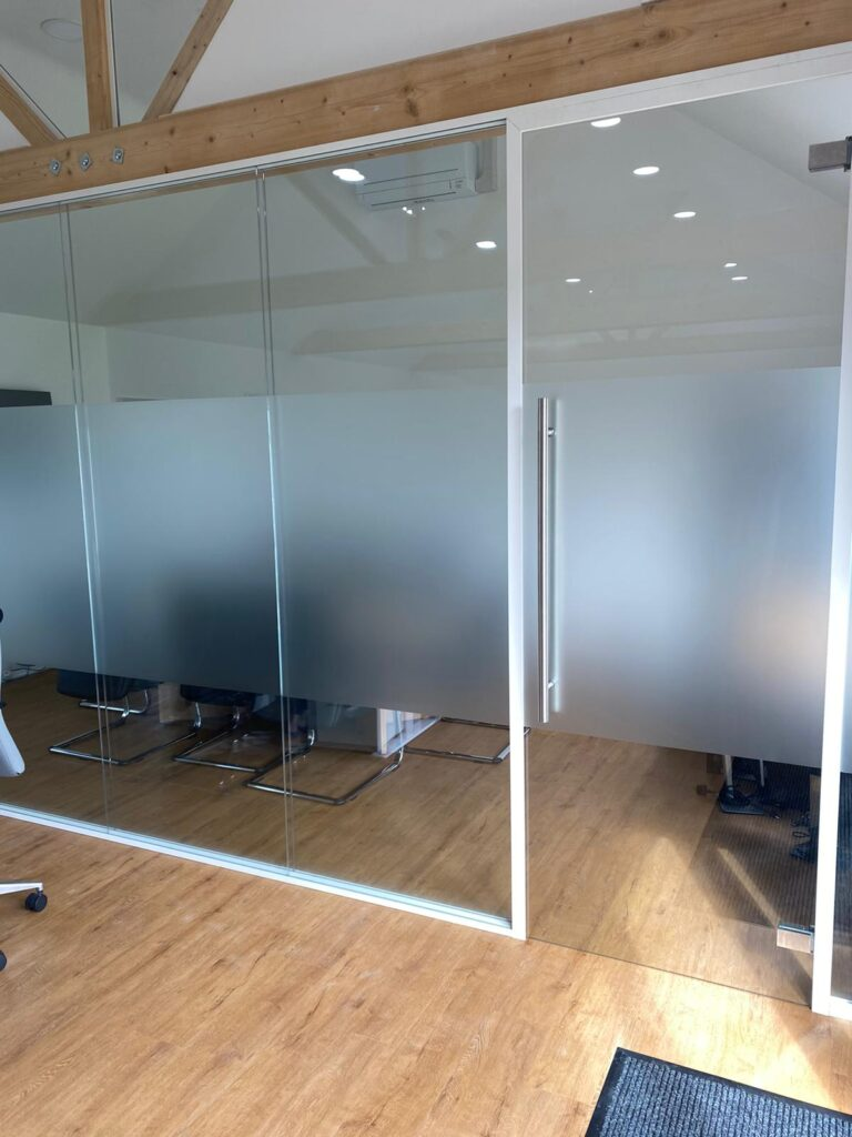 Glass Office Partition Screening