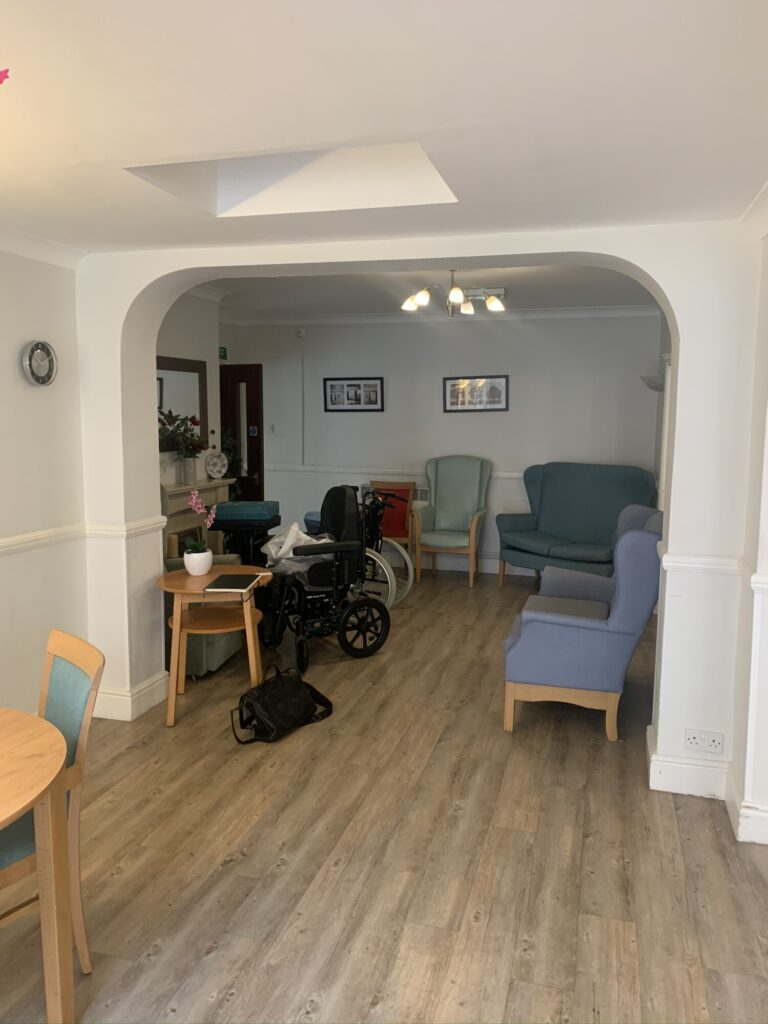 Care Home without Glass Partition