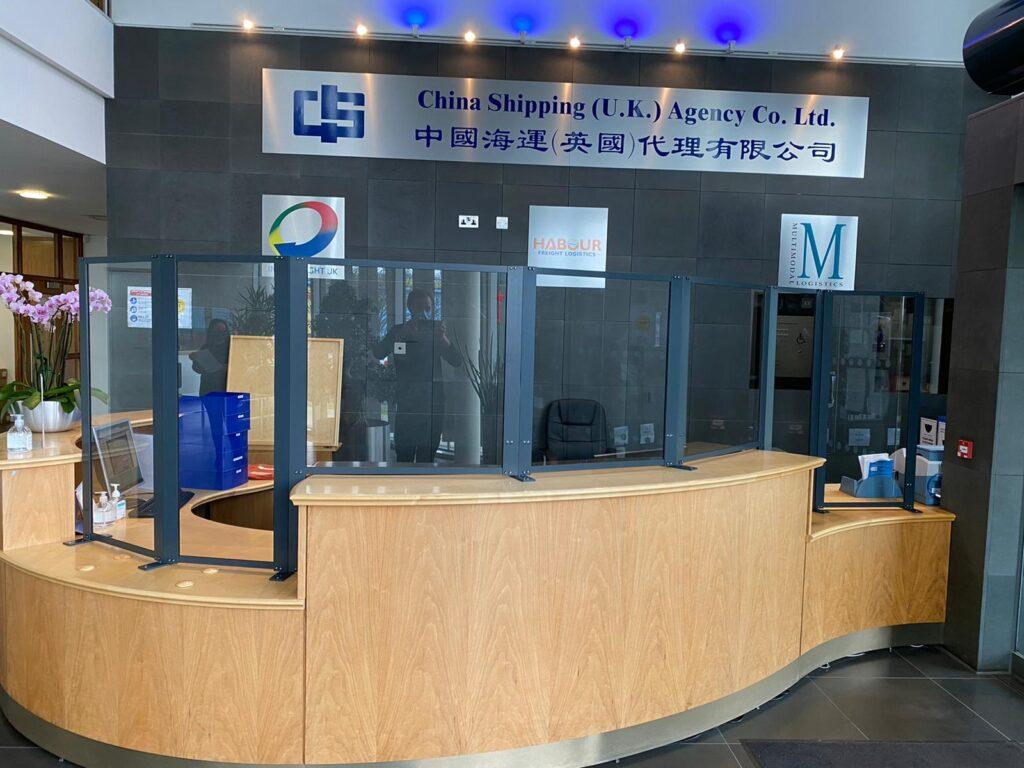 Protective Reception Desk Screens