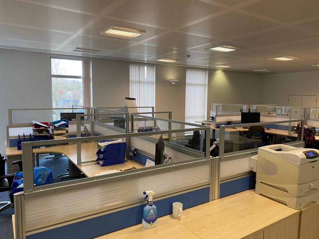 Glass Protective Screens for Desks